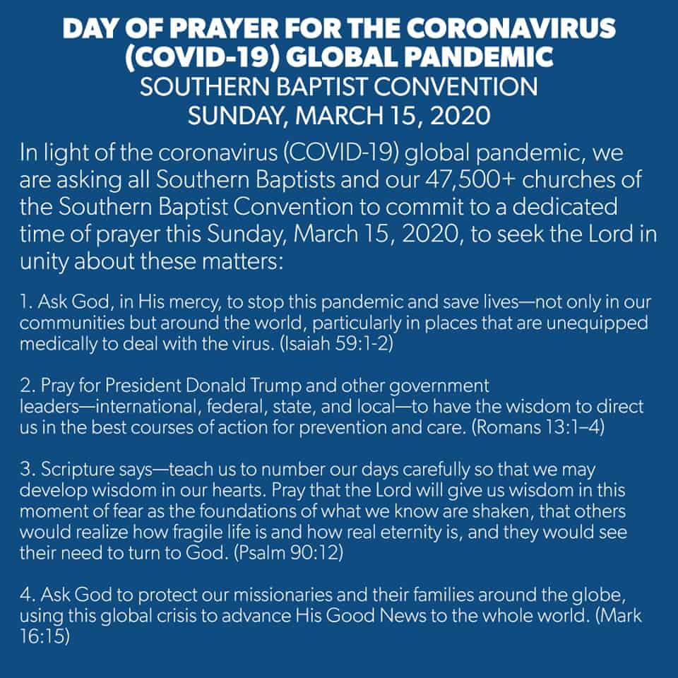 Day of Prayer for the Covid-19 Global Pandemic