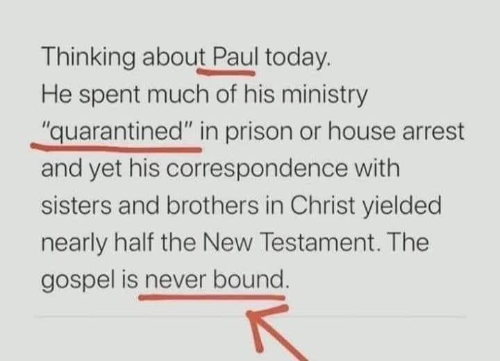 The gospel is never bound.